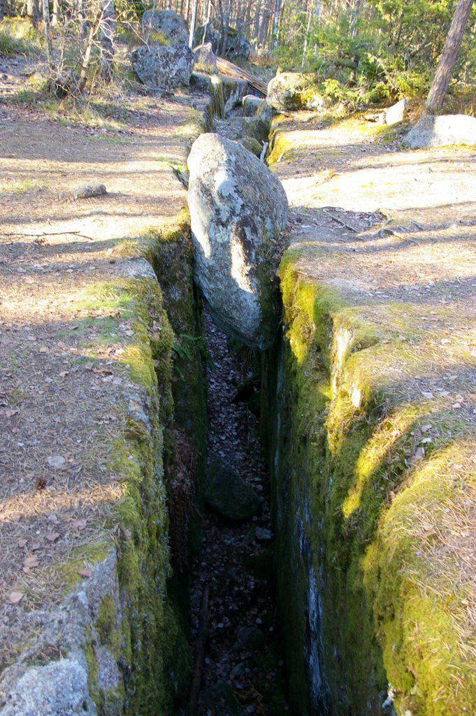 bilden föreställer Trollegater i Östergötland