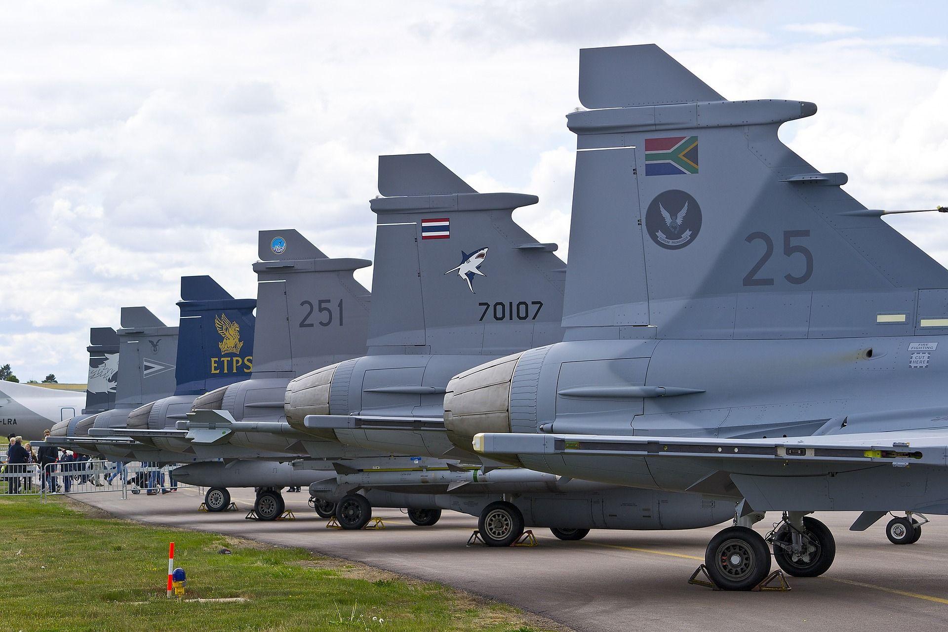 bilden föreställer flygvapenmuseet i Östergötland