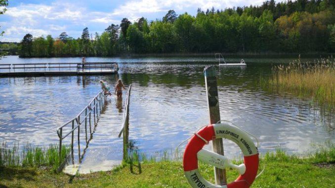 bilden föreställer Viggeby bad