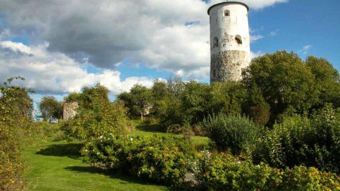 bilden föreställer Stegeborg slottsruin