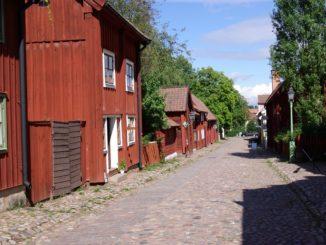 bilden föreställer Gamla Linköping