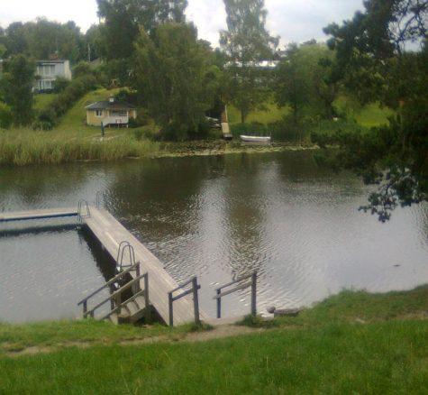 Bilden föreställer Hjulsbro bad